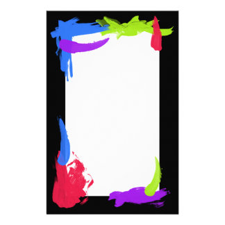 Bright Paint Stationery