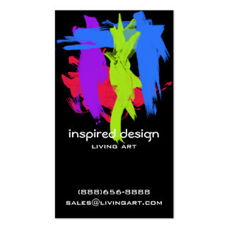 Bright Paint Strokes Acrylic Pack Of Standard Business Cards