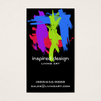 Bright Paint Strokes Acrylic Business Card