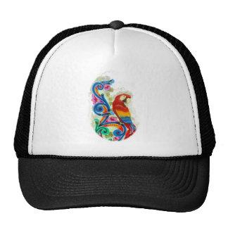 bright parrot cap