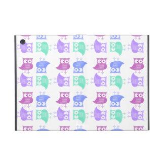 Bright party owls iPad mini cases