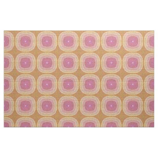 Bright Pastel Pink Yellow Ochre Bali Batik Pattern