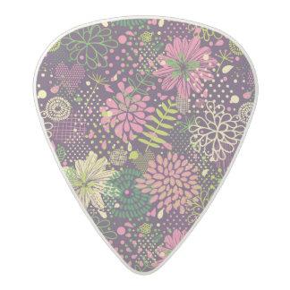 Bright pattern acetal guitar pick