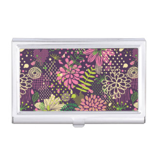 Bright pattern business card holder