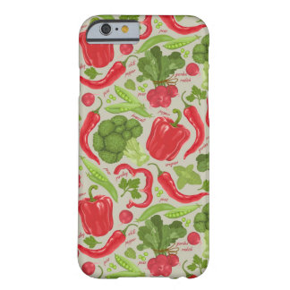 Bright pattern from fresh vegetables barely there iPhone 6 case