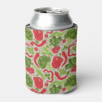 Bright pattern from fresh vegetables can cooler