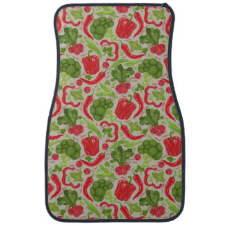 Bright pattern from fresh vegetables car mat