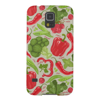 Bright pattern from fresh vegetables cases for galaxy s5