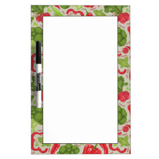Bright pattern from fresh vegetables dry erase board