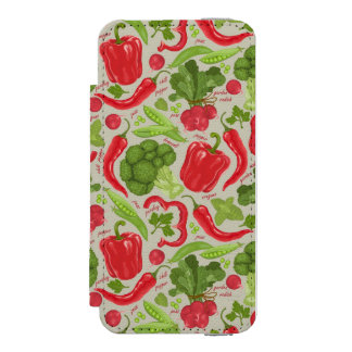 Bright pattern from fresh vegetables incipio watson™ iPhone 5 wallet case