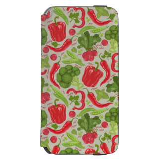 Bright pattern from fresh vegetables incipio watson™ iPhone 6 wallet case