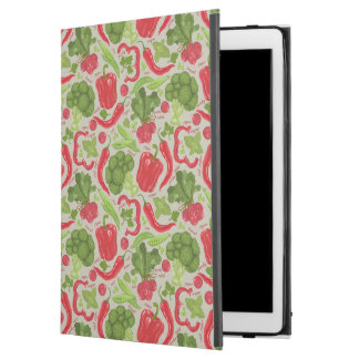 """Bright pattern from fresh vegetables iPad pro 12.9"""" case"""