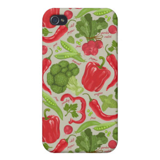 Bright pattern from fresh vegetables iPhone 4 cover