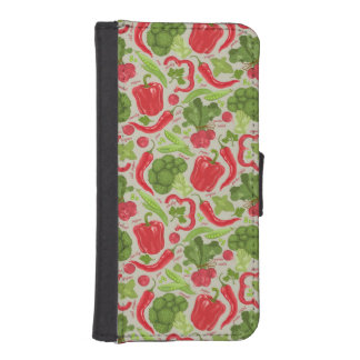 Bright pattern from fresh vegetables iPhone SE/5/5s wallet case
