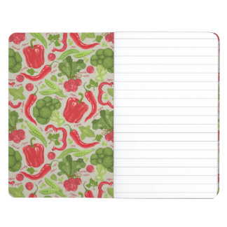 Bright pattern from fresh vegetables journals