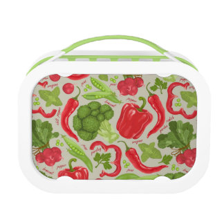 Bright pattern from fresh vegetables lunch box