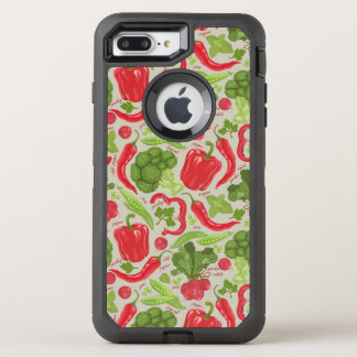 Bright pattern from fresh vegetables OtterBox defender iPhone 8 plus/7 plus case
