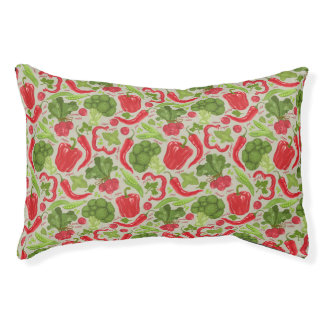Bright pattern from fresh vegetables pet bed