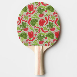 Bright pattern from fresh vegetables ping pong paddle