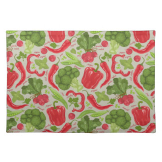 Bright pattern from fresh vegetables placemat