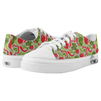 Bright pattern from fresh vegetables printed shoes