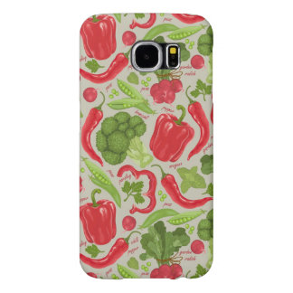 Bright pattern from fresh vegetables samsung galaxy s6 cases