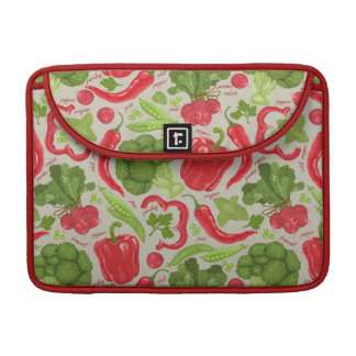 Bright pattern from fresh vegetables sleeve for MacBooks