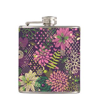 Bright pattern hip flask