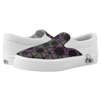 Bright pattern of circles Slip-On shoes