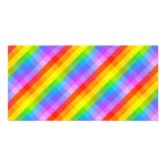Bright Pattern. Photo Card Template