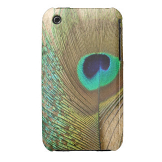 Bright peacock eye bird feather girly chic photo iPhone 3 Case-Mate case