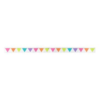 Bright Pennant Banner Ribbon Satin Ribbon