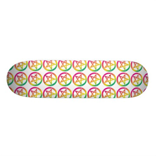 Bright pentacle skateboard