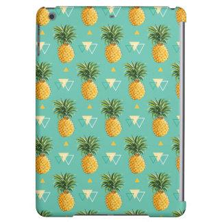 Bright Pineapples On Geometric Pattern
