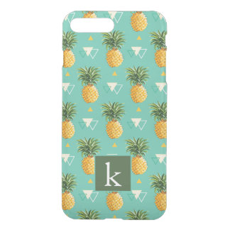 Bright Pineapples On Geometric Pattern | Add Your  iPhone 8 Plus/7 Plus Case