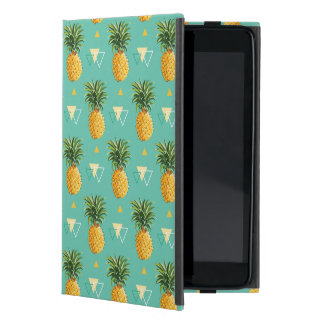 Bright Pineapples On Geometric Pattern Case For iPad Mini