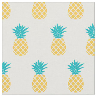 Bright Pineapples Pattern Fabric