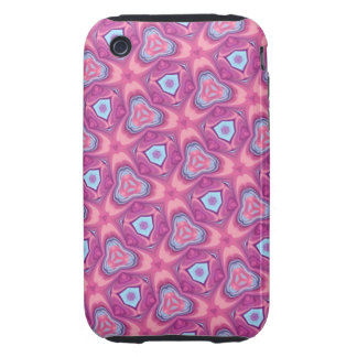 Bright Pink Abstract iPhone 3 Tough Case