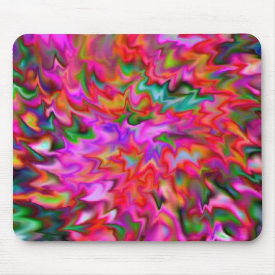Bright Pink Abstract Mouse Pad