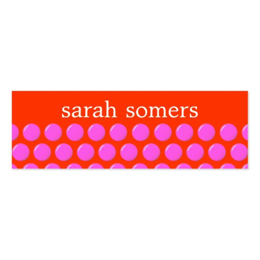 Bright Pink and Orange Polka Dots Beauty Salon Business Cards