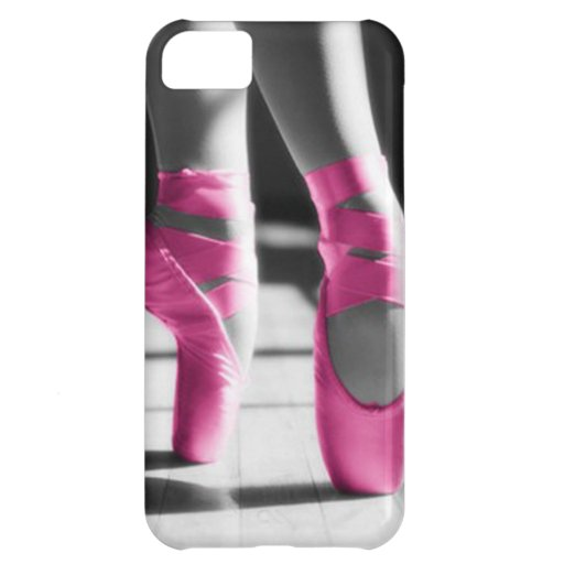 Bright Pink Ballet Shoes Cover For iPhone 5C