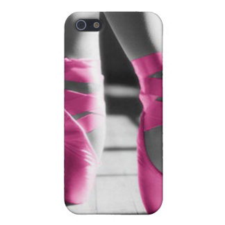 Bright Pink Ballet Shoes Case For The iPhone 5
