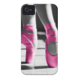 Bright Pink Ballet Shoes iPhone 4 Case