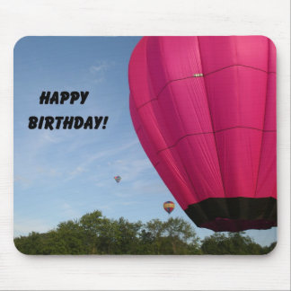 Bright pink balloon Happy Birthday Mousepads