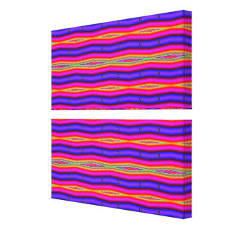 bright pink blue lines stretched canvas prints