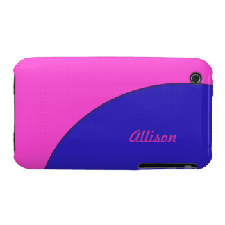 Bright Pink Blue Mod Retro Case-Mate iPhone 3 Cases