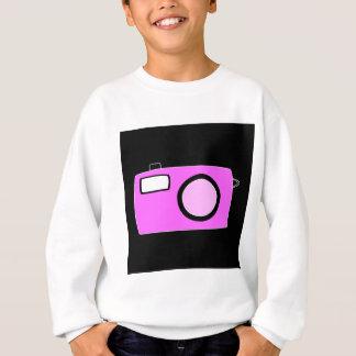 Bright Pink Camera. On Black. Sweatshirt