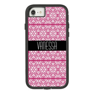 Bright Pink Chic Geometric Name Case-Mate Tough Extreme iPhone 8/7 Case