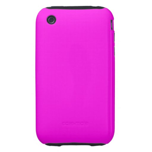 Bright Pink Color iPhone 3 Tough Cases