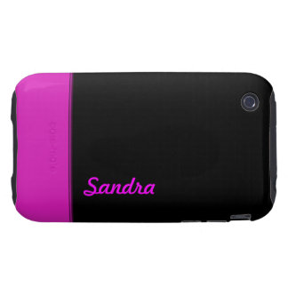 Bright Pink color  name iPhone 3 Tough Cases